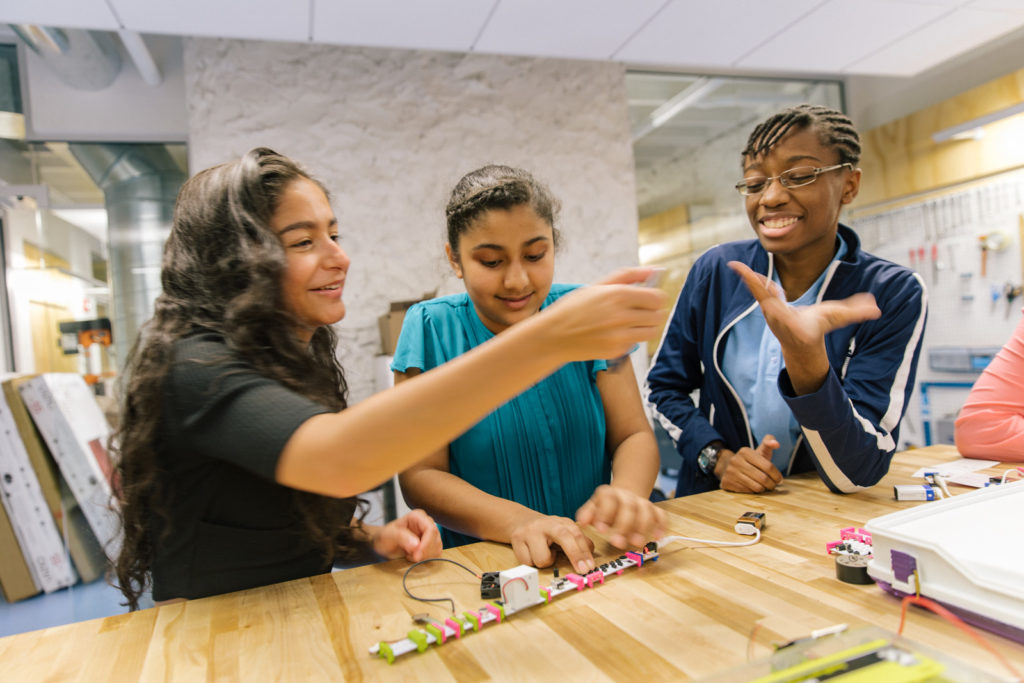 Girls Who Code students
