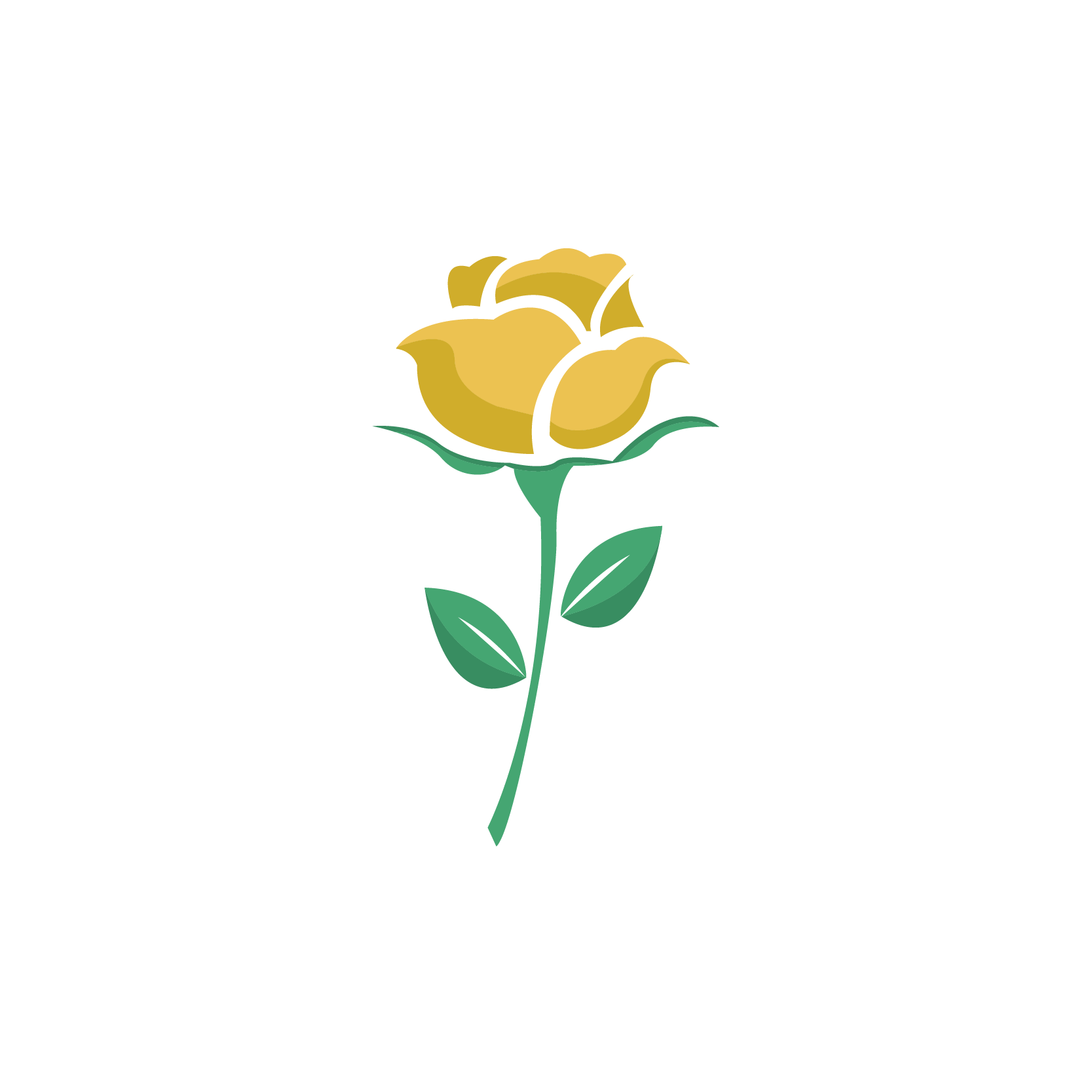yellow rose graphic