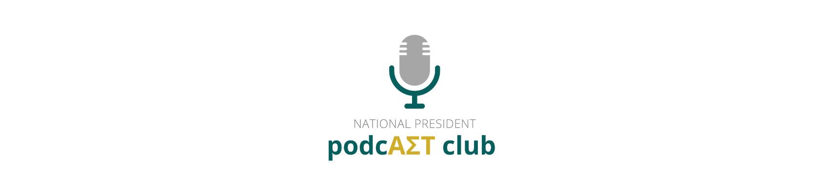 Logo for National President Podcast Club