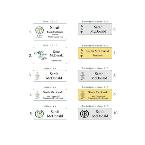 10 options for recruitment name tags